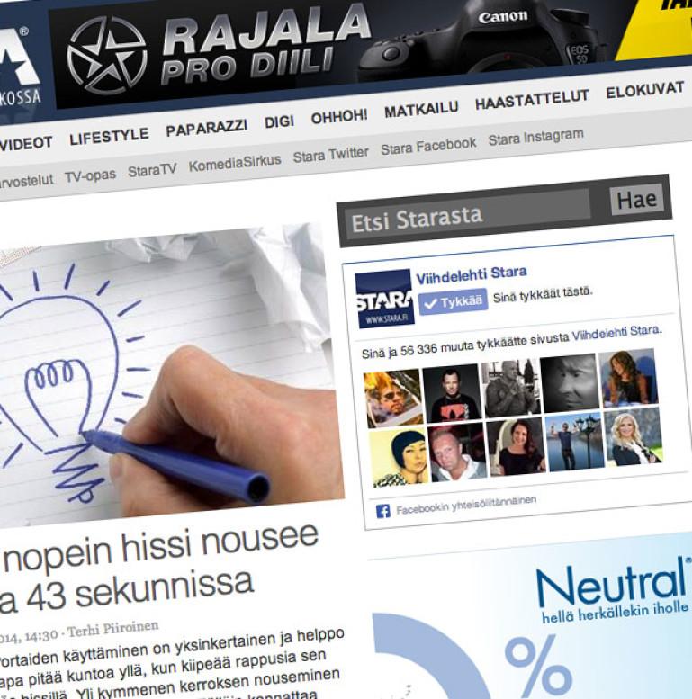Stara.fi -verkkosivusto